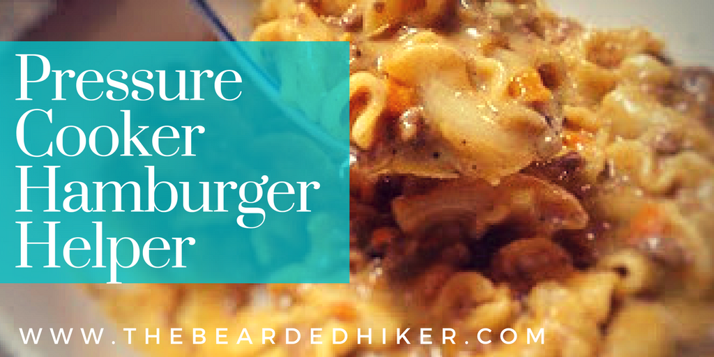 "Cheesy ""hamburger helper"" in the pressure cooker takes minutes. Much more tasty than the boxed stuff and the cheesy level is off the charts!"