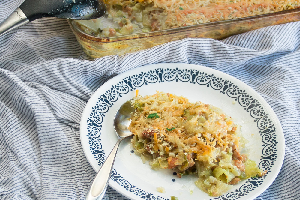 Cabbage, cheese, ground beef - all baked up for the perfect crowd pleaser!