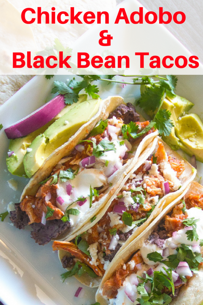 What to do with rotisserie chicken? Make these quick and easy chicken adobo tacos!
