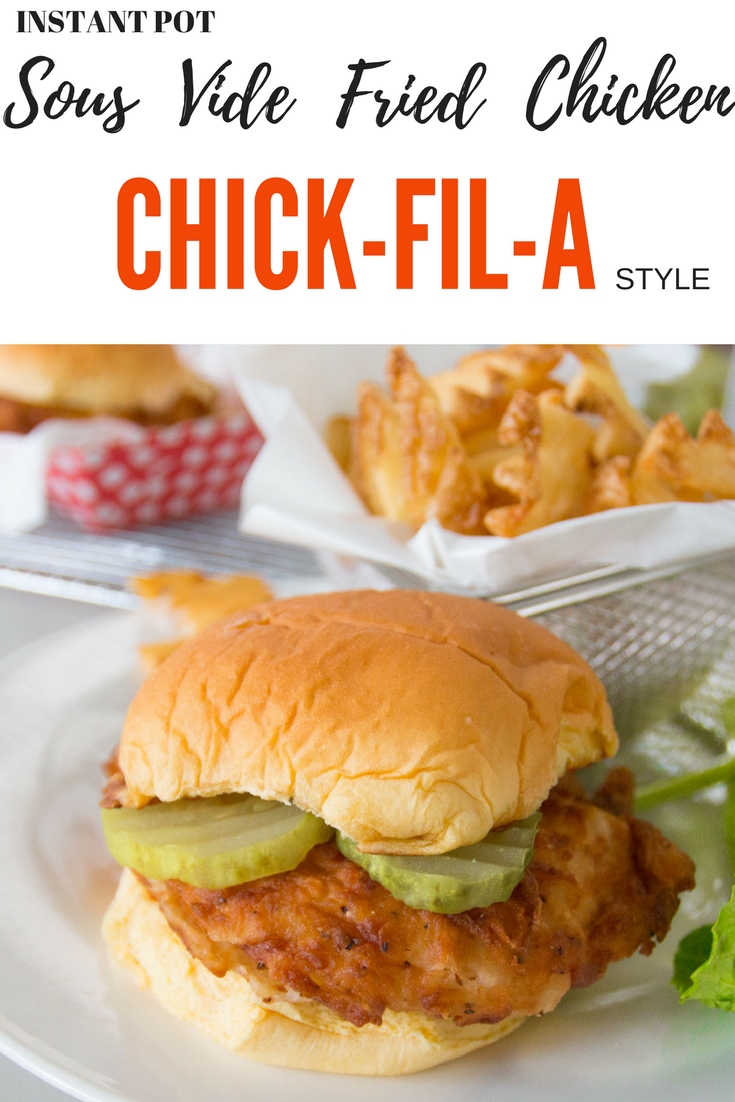 Sous vide fried chicken Chick-Fil-A style, in your Instant Pot Ultra or sous vide device.