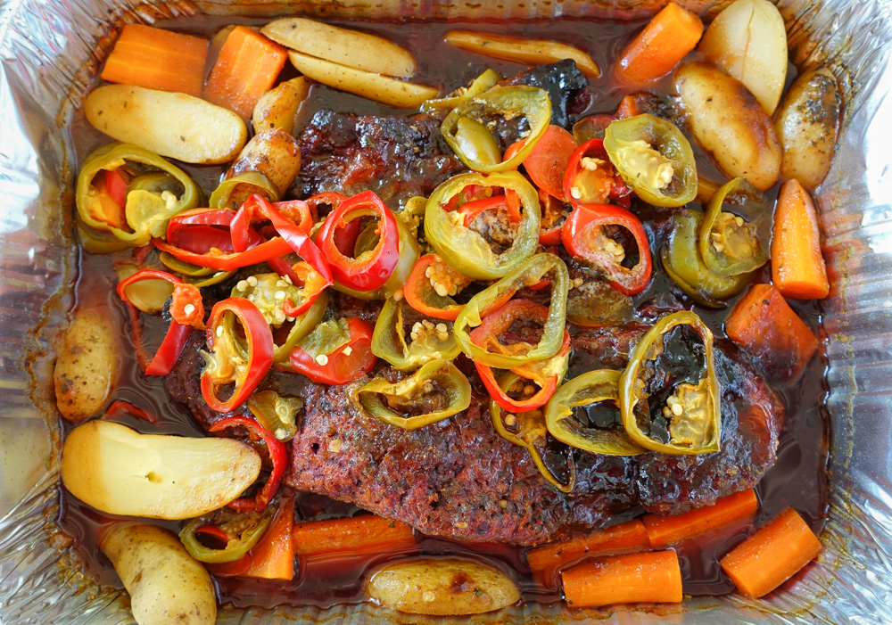 Forget Mississippi pot roast. In walks Alabama pot roast. It's zestier, more beautiful, and makes your taste buds cheer Roll Tide!