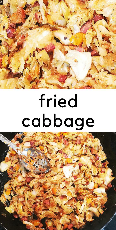 Fried cabbage - cruciferous goodness.