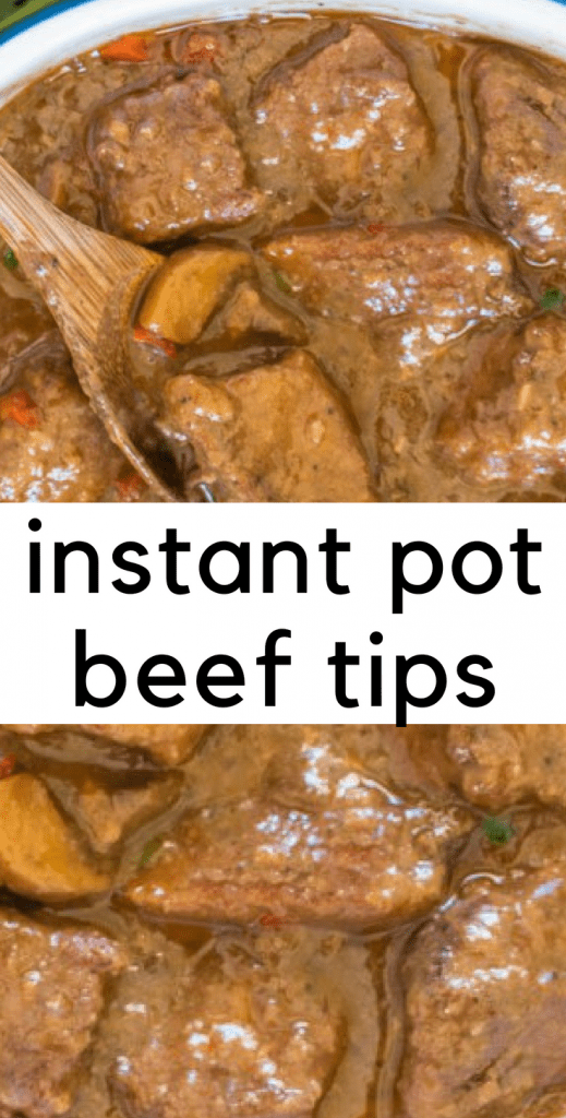 Easy, tender beef tips in under an hour with the most divine gravy! Eat up!