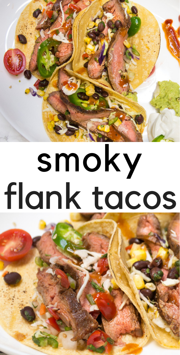 Smoky, tender grilled flank tacos! Let tacos rule!    Delicious smoky flank tacos for Taco Tuesday, Taco Thursday, or Meat Monday!