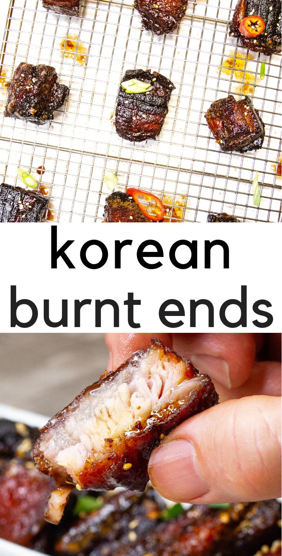 Korean Style Pork Belly Burnt Ends