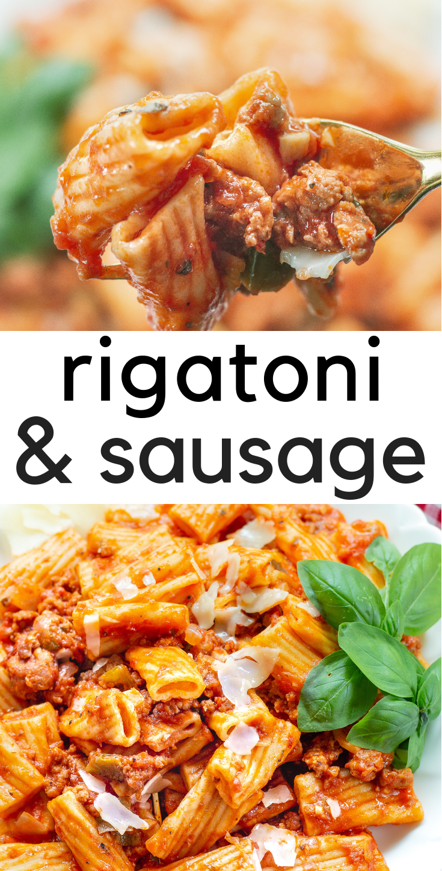 Instant Pot Rigatoni and Sausage