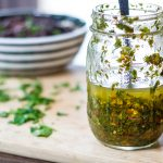 Simple, delicious chimichurri sauce to pour over everything!