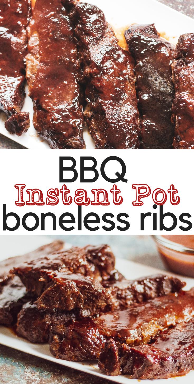Boneless BBQ Beef Ribs - Instant Pot