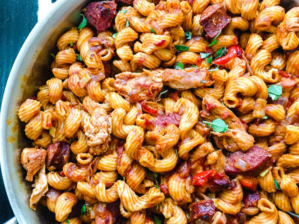 Instant Pot Pastalaya gives you all the flavors you love in jambalaya but substitutes pasta in place of rice.  Pastalaya is the perfect meal to feed your hungry tribe!