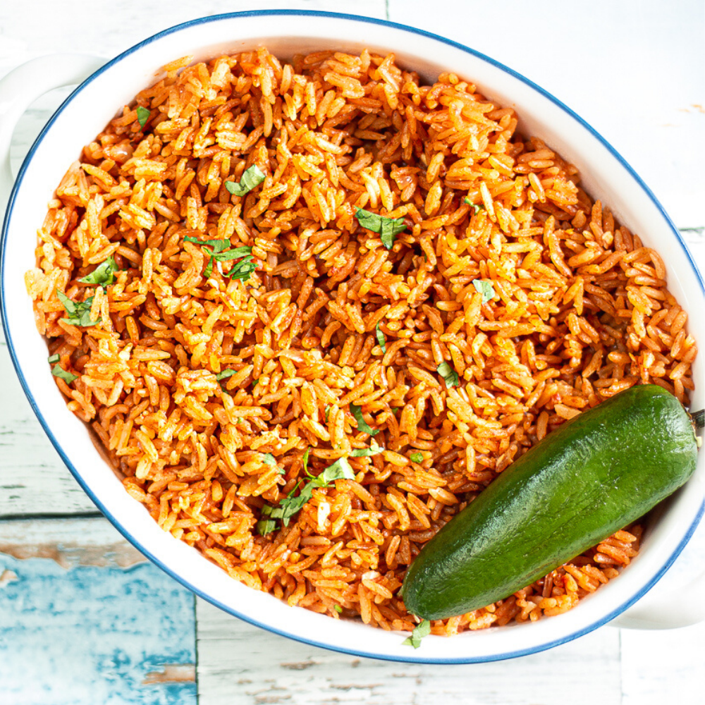 Restaurant style Mexican Rice is my favorite side dish with Mexican food and it's so easy in the Instant Pot!