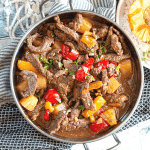 Instant Pot Jammin' Jerk Pineapple Beef - You can make this delicious jerk pineapple beef with rice in no time using the pot in pot method. Easy, delicious tender beef with a jerky pineapple flavor!