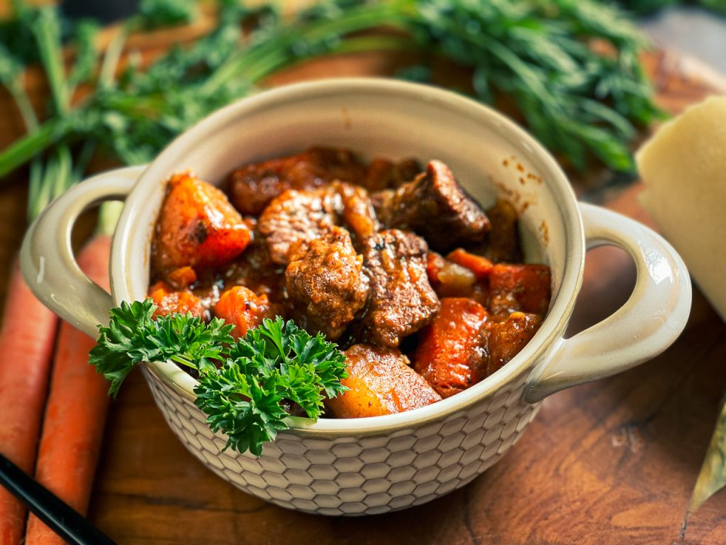 Best Ever Dump and Go Beef Stew in Your Instant Pot! Dump it in, walk away and dinner's done!